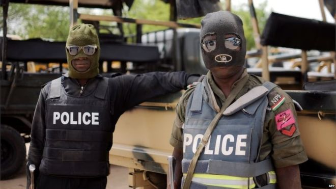 Nigerian Police Officers On The Run