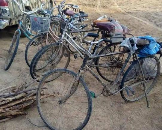 The Bicycles seized by the Nigerian Army Troops