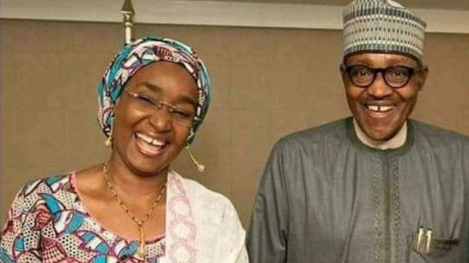 Sadiya Umar Farouk and Buhari