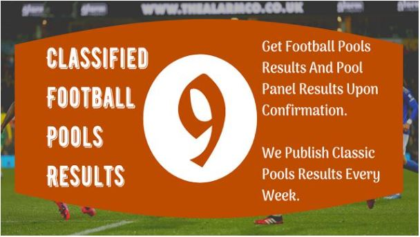 Football Pool Result Today Sat 4 Sep 2021 For Week 9 Pool Fixtures 2021 – Pool Agent